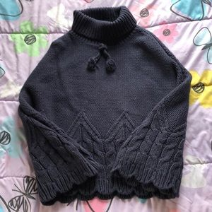 Tommy Hilfiger Girls heavy knitted poncho